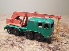 Vintage Matchbox Series No. 30 Wheel Crane Green and Red England Lesney  #Matchbox