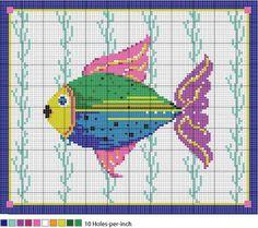 Fantasy Fish Needlepoint Pattern - Instructions for Fish Needlepoint Pattern