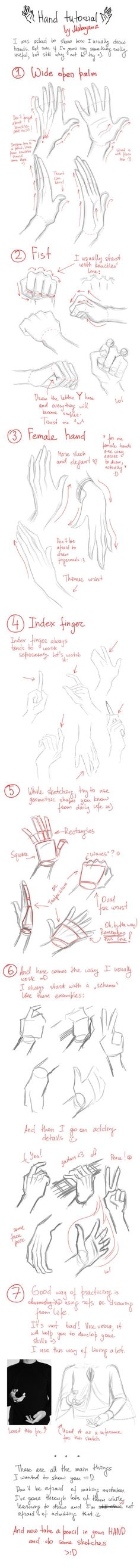 Hands tutorial https://www.facebook.com/CharacterDesignReferences: