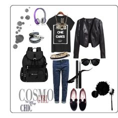 casual style1 by elenilor on Polyvore featuring H&M, Sherpani, Kiel Mead Studio and House of Harlow 1960