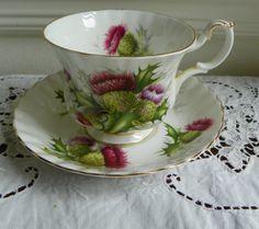 Royal Albert Tea Cup Highland Thistle