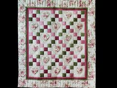 Hearts and Nine Patch Quilt -- outstanding skillfully made Amish Quilts from Lancaster (wh7774)
