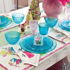 Aqua Glass Dinnerware 4 Piece Set $38 AVAILABLE FROM BHR HOME: http://beachhippiehome.mybigcommerce.com/aqua-glass-dinnerware-4-piece-set-38/ INCLUDES NORTON SHOPPER PROTECTION & BEST PRICE GUARANTEE