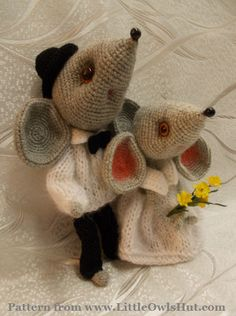 Project by Natalia Rogova. Mouse Sofia Crochet pattern by Svetlana Pertseva for…