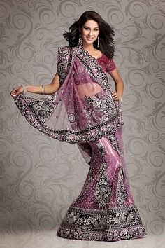 Beautiful pink Sari