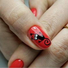 CUTE BLACK CAT NAIL ART DESIGNS FOR HALLOWEEN - Myeva for Healthcare, Skin care & Beauty