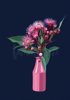 Print Collection – Page 4 – Lamai Anne Australian Native Flowers, Australian Artists, Artichoke Flower, Artwork For Home, Pastel, Guache, Paint Designs, Les Oeuvres, Art Lessons