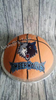 Timberwolves basketbal cake