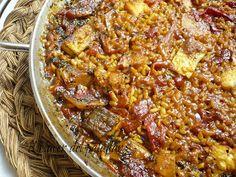 el placer del paladar: Arroz de Bacalao - Patata y Pimientos del Piquillo Paella, Risotto, Chili, Soup, Rice, Quinoa, Happy, Skinny Pancakes, Cod
