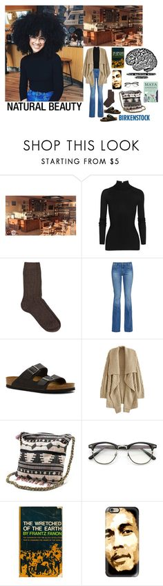 """""""Marci Hudson - Radical Coffeehouse Intellectual, Natural Beauty❤️👩🏻✊🏼👓📖☕️❤️"""" by chrisiggy ❤ liked on Polyvore featuring Coffee Shop, T By Alexander Wang, NN.07, M.i.h Jeans, Birkenstock, Muk Luks and Casetify"""