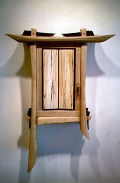 Calligraphic Wall Cabinet , by Craig Royal. Ash, spalted hickery