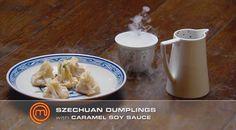 Sichuan dumplings with soy sauce caramel | MasterChef Australia #MasterChefRecipes