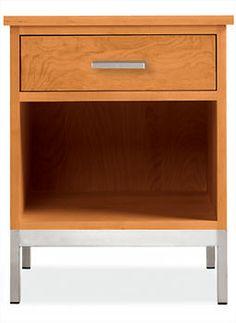$599  Linear Nightstands with Steel Base - Nightstands - Bedroom - Room & Board