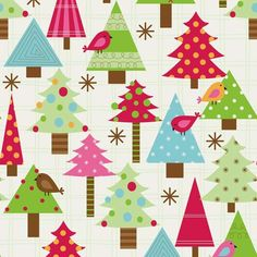 Festive Forest Printed Gift Wrap - Half Ream - Gift Wrap