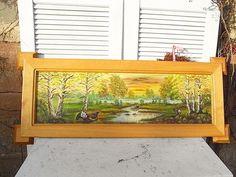 *Hübsches Breites 'über' - Bild*  Über der Kommode, über dem Bett, über der Eckbank...  ...oder ohne Bild: als Rahmen für ein hochwertigeres Gemälde, ein Memobord, einen Spiegel...  Das...