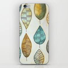 Rustic Leaves iPhone Skin by lorimoro Iphone Skins, Spoon Rest, Leaves, Rustic, Stuff To Buy, Products, Country Primitive, Retro, Farmhouse Style