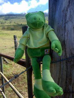 Les Loupiots Gilles the Crocodile Doll $29