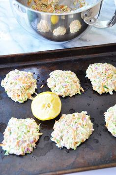 Vegan Oil-Free Zucchini & Carrot Fritters