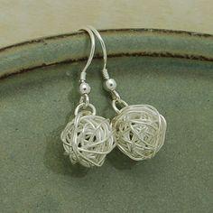 Sterling Silver Bird's Nest Earrings by IndiviJewels on Etsy, $37.00