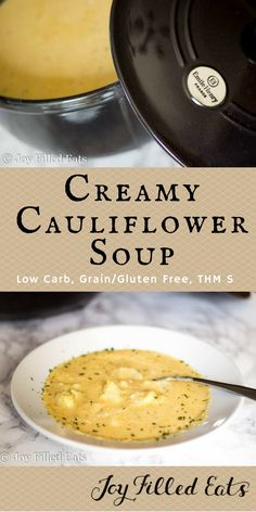 This Creamy Cauliflower Soup tastes rich and creamy but is low carb and lower fat than most cream based soups. It is a THM S with a FP option.