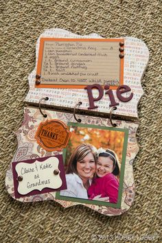 Creating new family traditions is as easy as pumpkin pie! Share your recipes and special memories in a DIY flipbook. http://shop.hobbylobby.com/tabs/family-chipboard-album/