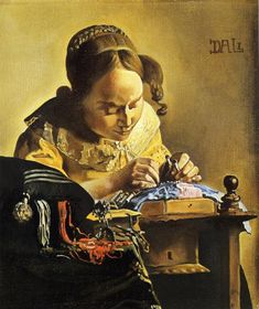 The Lacemaker (after Vermeer), 1954-1955  Salvador Dali