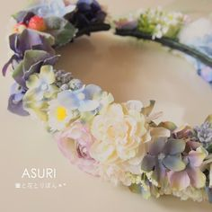 *花かんむり(ウェディング・パーティ)* イメージに合わせてひとつひとつ制作します。 こんな色合いで作って欲しい!というオーダーメイドが出来る花かんむりです。...|ハンドメイド、手作り、手仕事品の通販・販売・購入ならCreema。