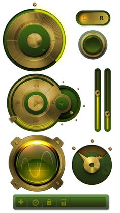 UI Preview set by Eugene Zolotco, via Behance