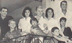 Dean Martin with his beautiful family - happy times . Undated - web source =MReno