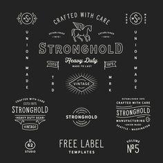 D62 free templates, label, logo, badge, typography, font, hipster, black, logo designer, graphic design, minimal, modern