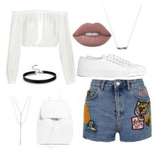"""""""All white"""" by imanko on Polyvore featuring mode, Elizabeth and James, Topshop, Mansur Gavriel, Joseph, Lana, Lime Crime, contestentry et styleinsider"""