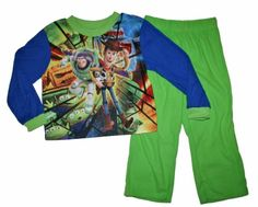 Disney Toy Story Boys Flannel Pajamas (6/7, Green) « Clothing Impulse..need this for Noah