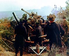 German soldiers with a 88mm Flak M39(r) gun at Seelow Heights,1945.
