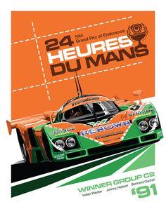 787B Le Mans Art Print