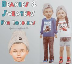 My Sims 3 Blog: Beanies & Sweaters for Toddlers and Cell Phone for Kids & Poses