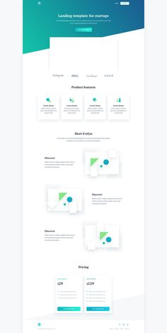 Evelyn is a free landing page template created for startups. Evelyn template has a beautiful and clean layout and comes with a custom CSS Grid system. Page Template, Templates, Css Grid, Grid System, Landing, Bar Chart, Layout, Free, Instagram
