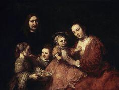 Afbeelding Rembrandt van Rijn Rembrandt van Rijn - Rembrandt/ Family portrait/ 1668