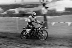 Check out Rocket Rex Staten on the Harley-Davidson dirt bike at Daytona. Photo: Dick Miller Archives