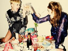 Recipe for a perfect Friday? Sweet treats, best friends and champagne. #TGIF
