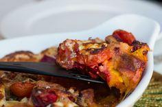 engelchens-probierstuebchen: Herbstlicher Auflauf mit Mozzarella und Parmesan - und ganz vielen frischen Kräutern