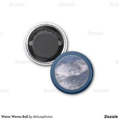 Water Waves Ball 1 Inch Round Magnet