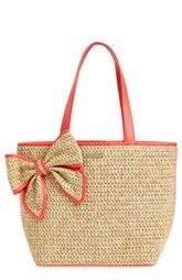 kate spade 'belle place' straw tote