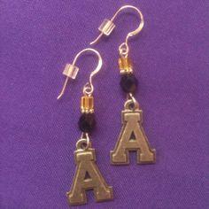 Licensed Collegiate Earrings  Appalachian by AnnPedenJewelry, $14.99