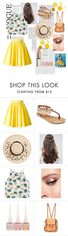 """""""Sans titre #230"""" by ouissal-lahouarii ❤ liked on Polyvore featuring Philipp Plein, Penny Loves Kenny, August Hat, ASOS, Christian Louboutin and Chloé"""