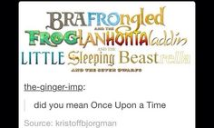 This is so true!! But Pocahontas and The Princess and the Frog are the only ones that haven't been on Once Upon A Time.
