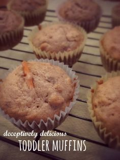 Deceptively Delicious Toddler Muffins - packed full of veggies and fiber but your kids won't know!