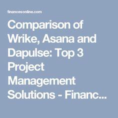 Comparison of Wrike, Asana and Dapulse: Top 3 Project Management Solutions - Financesonline.com