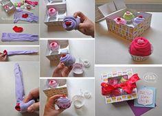 So cute! Cupcake onesies baby gift