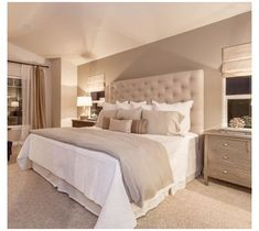 Bedroom Decor On A Budget, Room Ideas Bedroom, Home Decor Bedroom, Modern Bedroom, Bedroom Wall, Beige Bedrooms, Master Bedrooms, Stylish Bedroom, Contemporary Bedroom