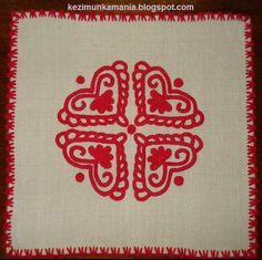 írásos terítő, közepes  méret: 40 x 40 cm Projects To Try, Embroidery, Rugs, Crafts, Design, Culture, Style, Traditional, Hungarian Embroidery